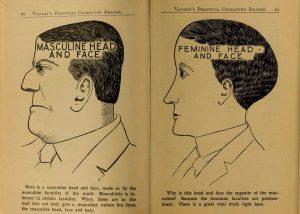 masculine and feminine face