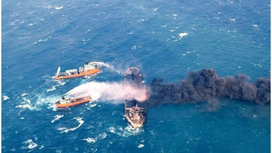 tanker oil spill in the East China
